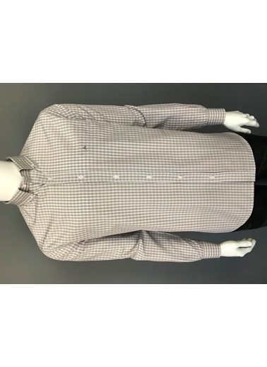Abbate Kolay Ütülenır Düğmelı Yaka Ekose Regular Fıt Ceplı Gömlek Bej